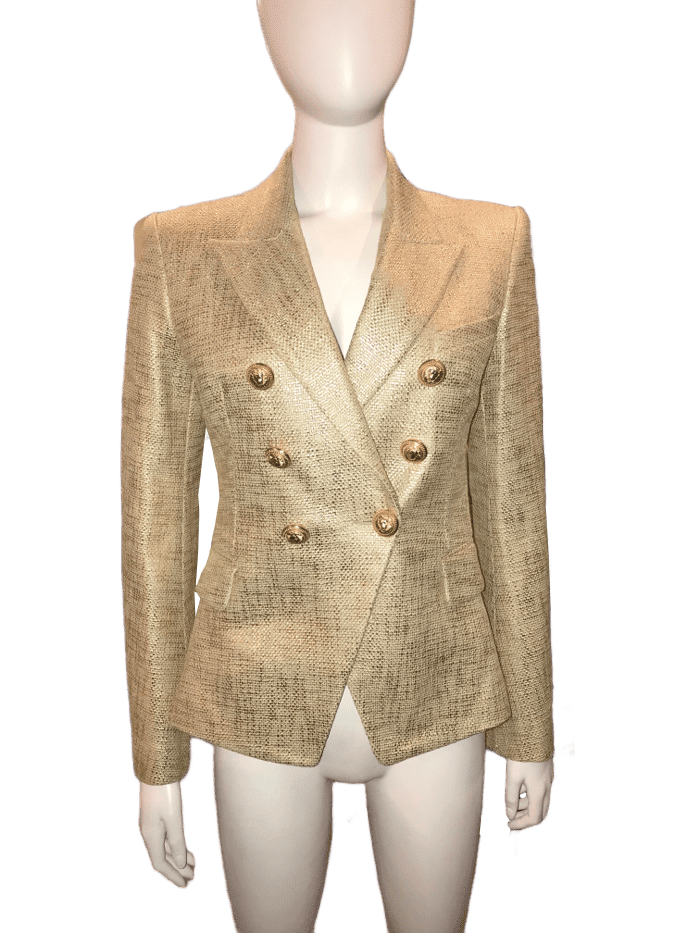 Gold Double Breasted Blazer