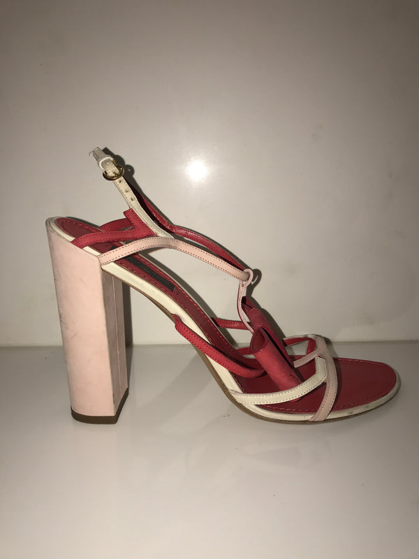 Red and Pink Block Heels