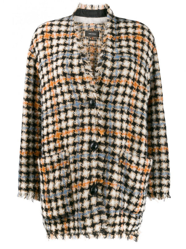 Plaid Check Dianaly Cardi Coat