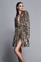 Gold Sequin Wrap Dress w/ Tags