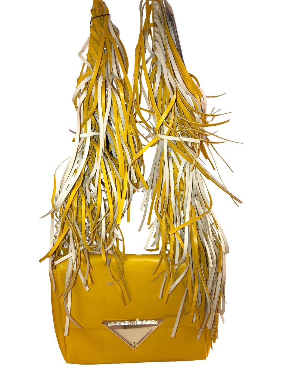 Sara Battaglia Yellow Teresa Shoulder Bag