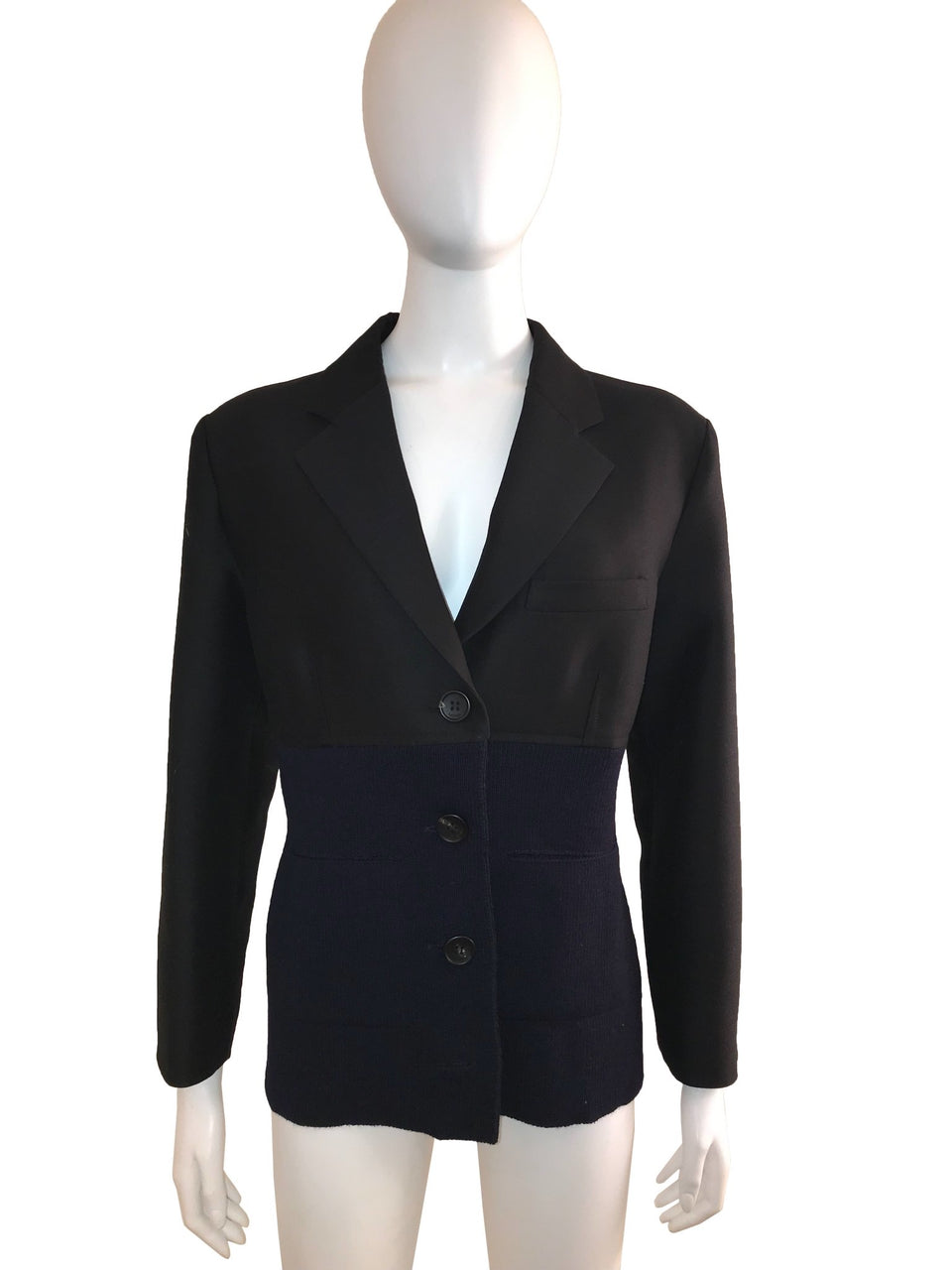 Blazer with Knit Bodice