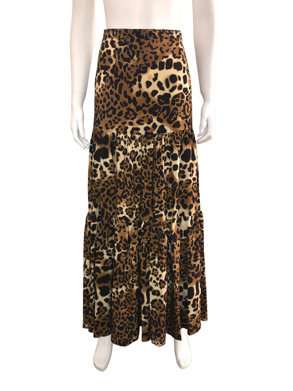 Leopard Printed Maxi Skirt