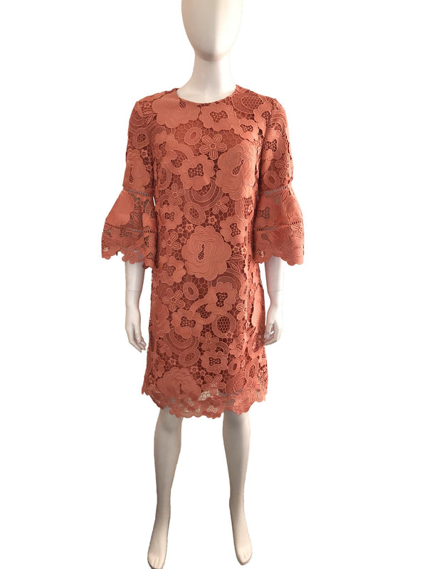 Lace Dress with Bell Sleeve