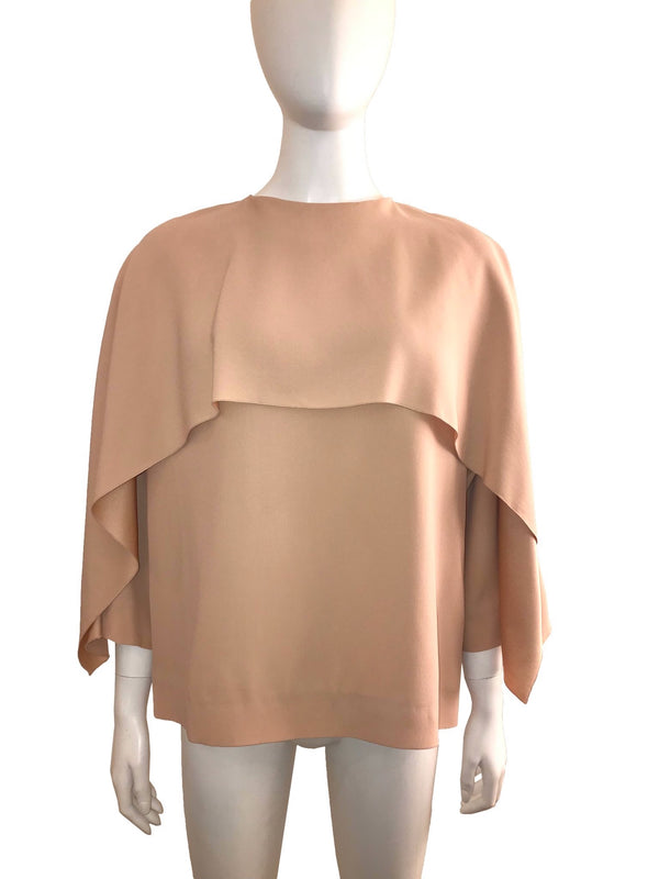 Blouse with Cropped Capelet