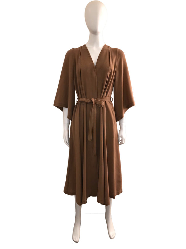 Belted Midi-Length Dress