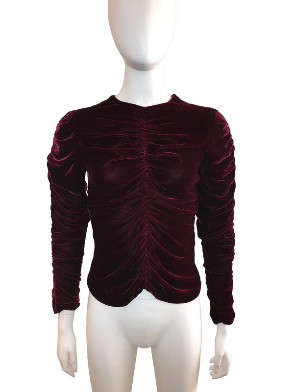Ruched Velvet Top