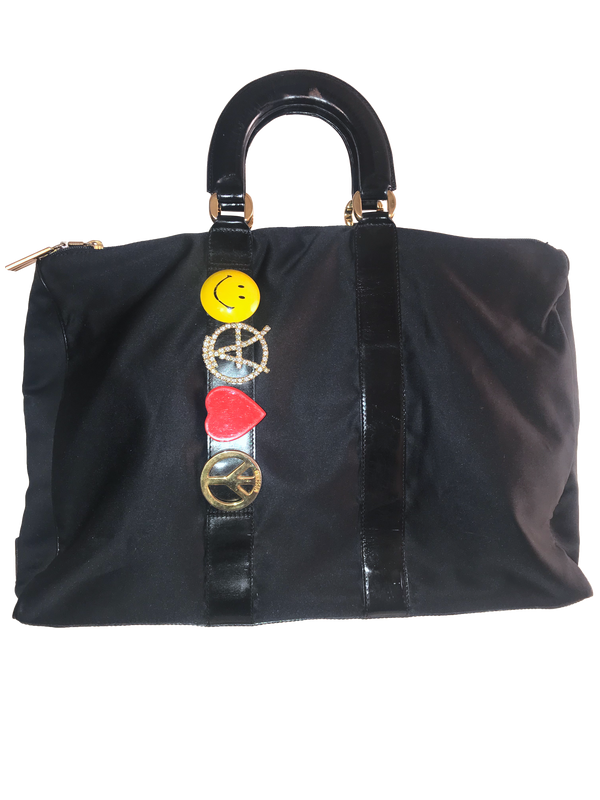 Vintage Moschino by Redwall Black Satin Bag