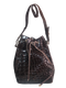 Franco Parmeggiani Embossed Croc Bucket Bag