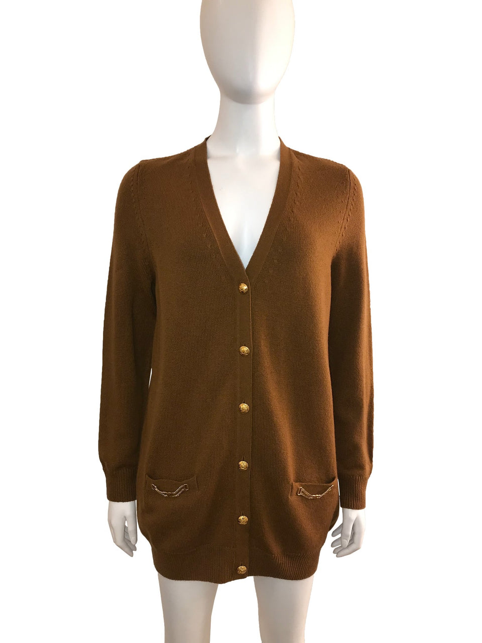 Cashmere Cardigan with Gold Buttons