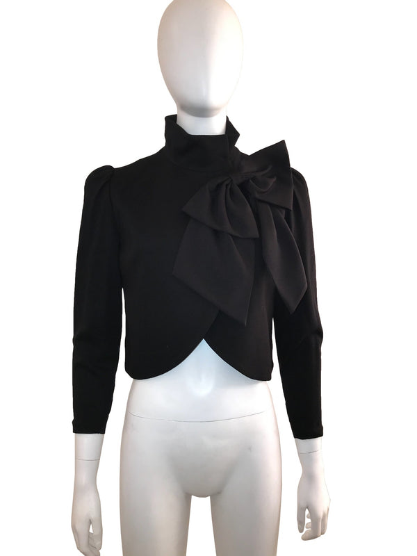 Cropped Bolero with Bow Detail