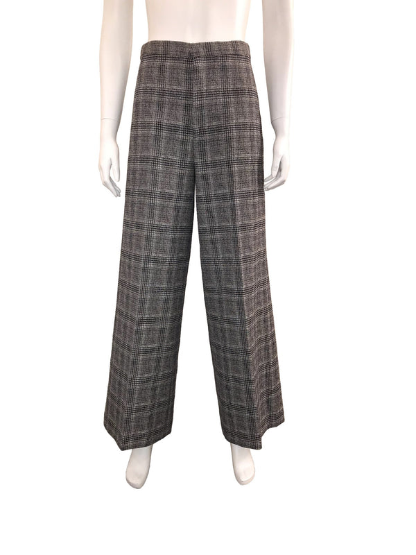 Grey Check High Waisted 'Trevi' Culottes