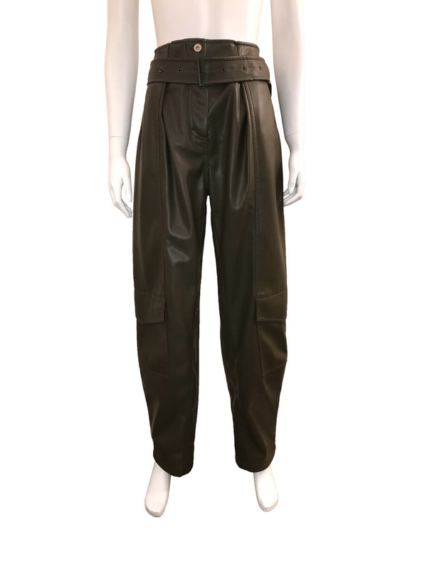 High Waisted Belted Cargo Pants