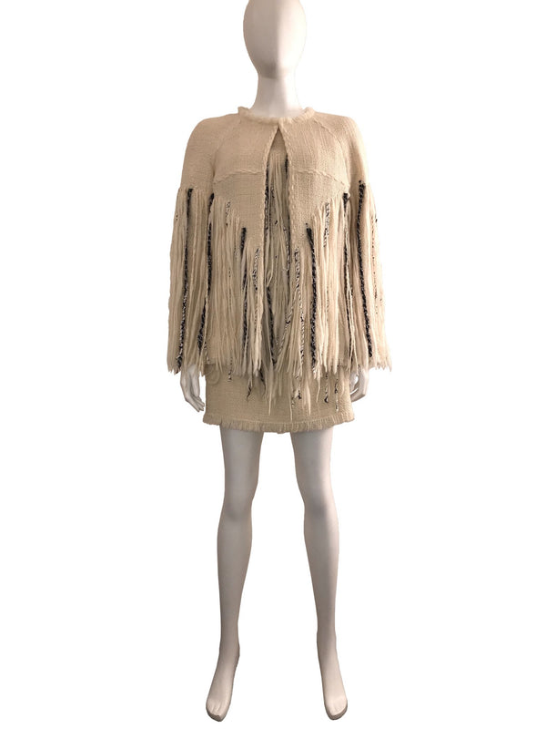 Runway Fringe Dress and Jacket Set