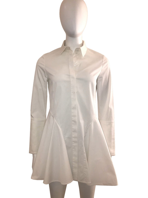Cotton Fit and Flare Shirt with Cuff
