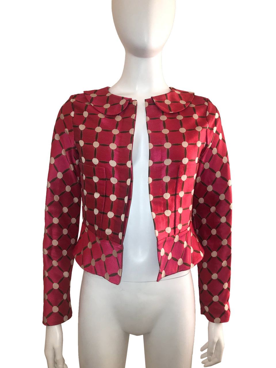 Printed Jacket with Dotted Pattern