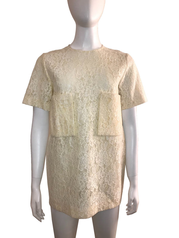 Short Sleeve Lace Tunic Top