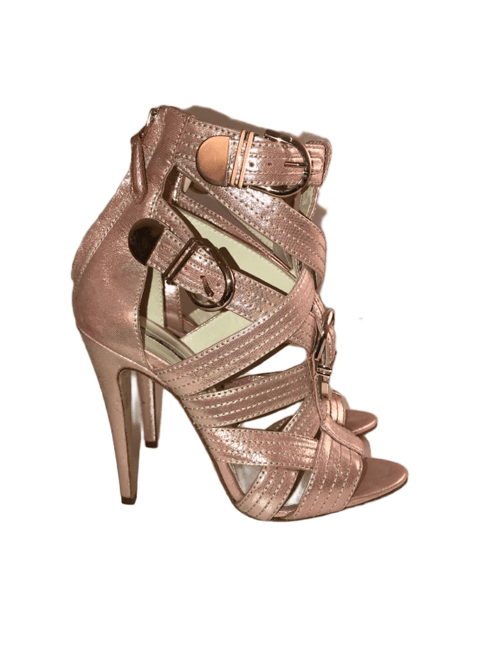 Pink Gladiator Sandal with Buckles