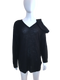 Valentino Black Cold Shoudler Bow Sweater