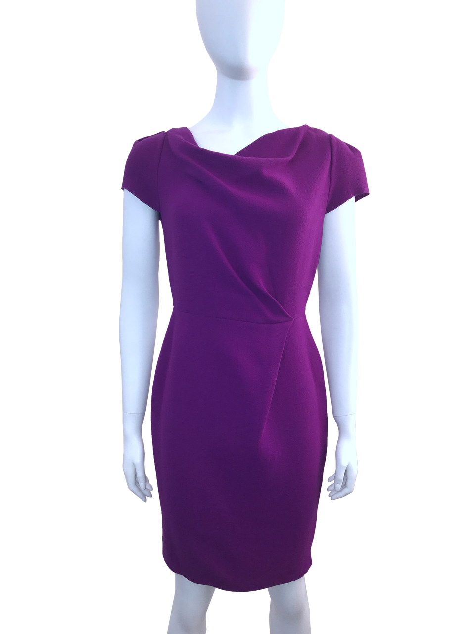Purple Cowl Neck Dress