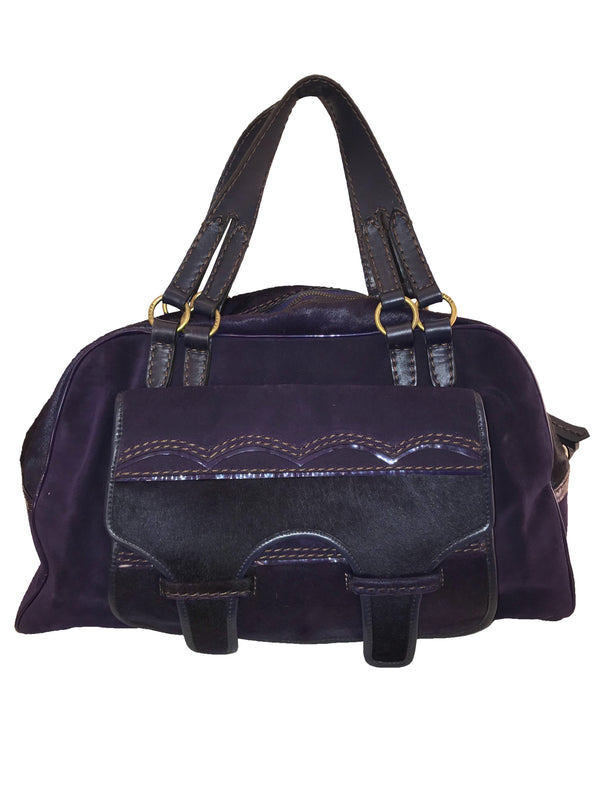 Purple Pony Hair Weekend Bag
