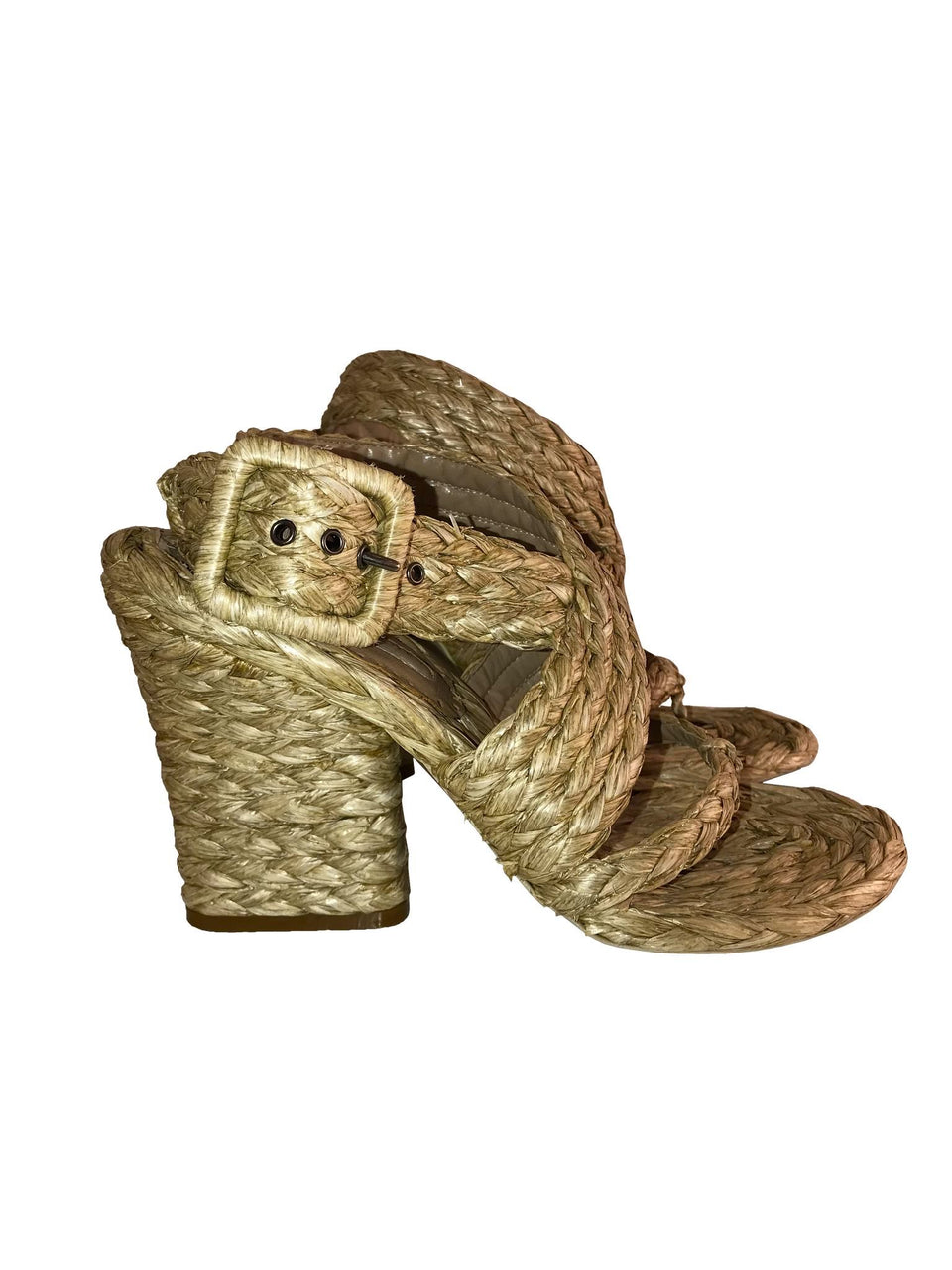 Wicker Straw Thong Sandals