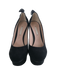 Black Ruffle-Accented Platform Pumps