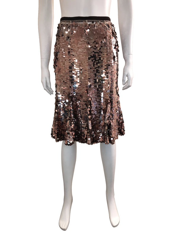 Sequin Knee Length Fit-and-Flare Skirt