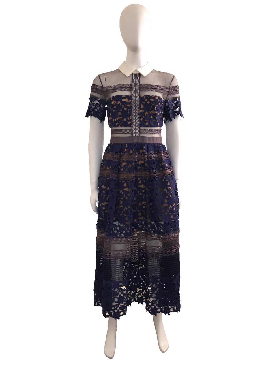 Short Sleeve Lace 'Liliana' Midi Length Dress