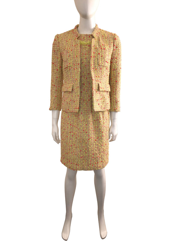 Yellow Tweed 2-Piece Dress Suit