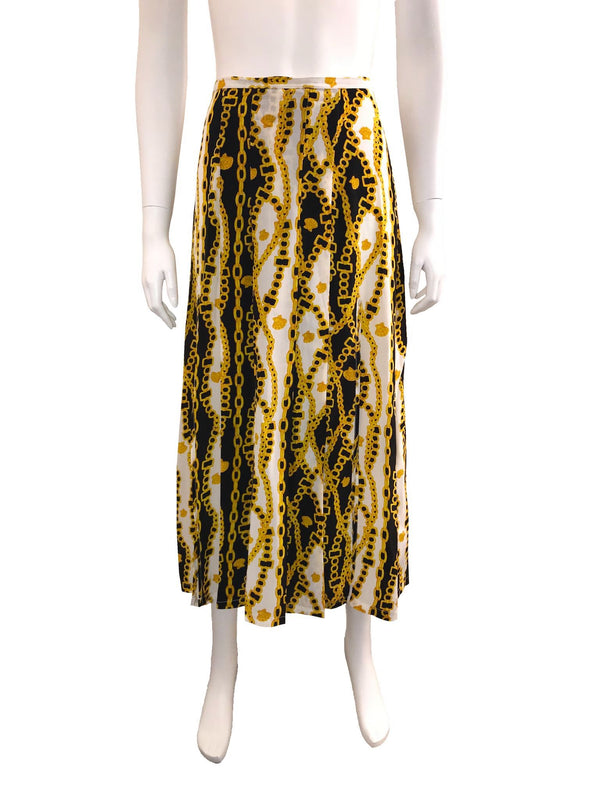 Chain Link Printed Skirt