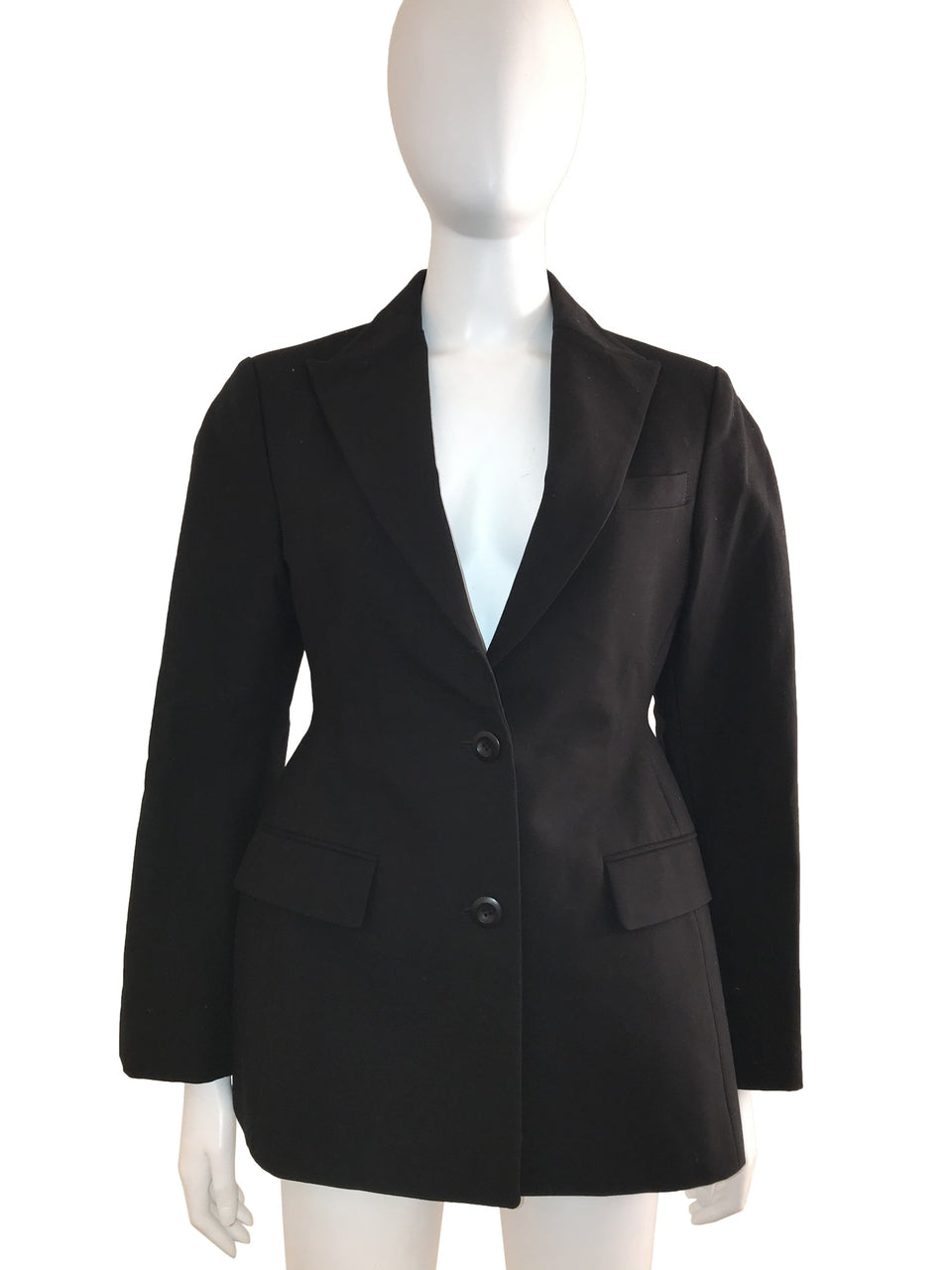 Structured Waist Hourglass Cotton Blazer