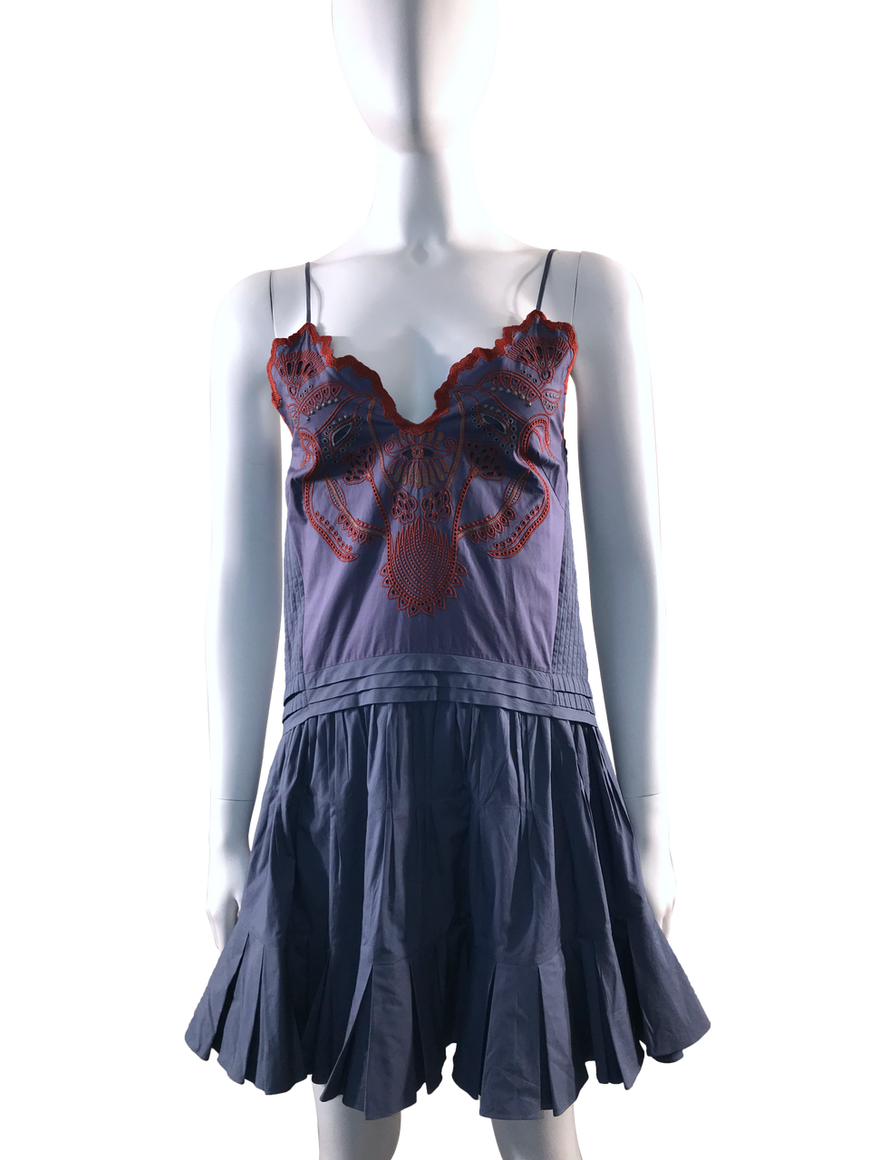 Embroidered Cami Dress w/ Tags