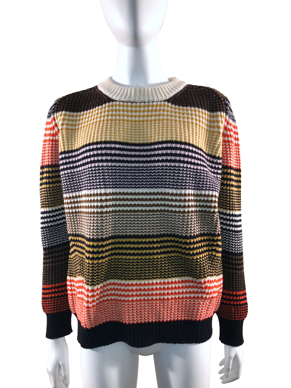 Striped Multi Coloured Wool Sweater