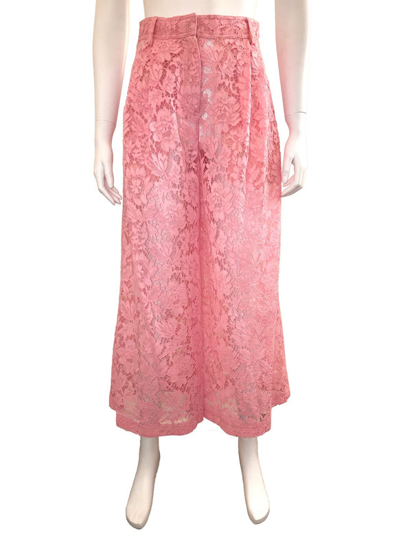 Pink Lace Culotte with Pockets