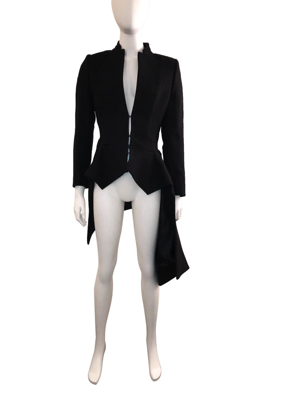 'Oragami' Structured Asymmetric Jacket with Belted Waist