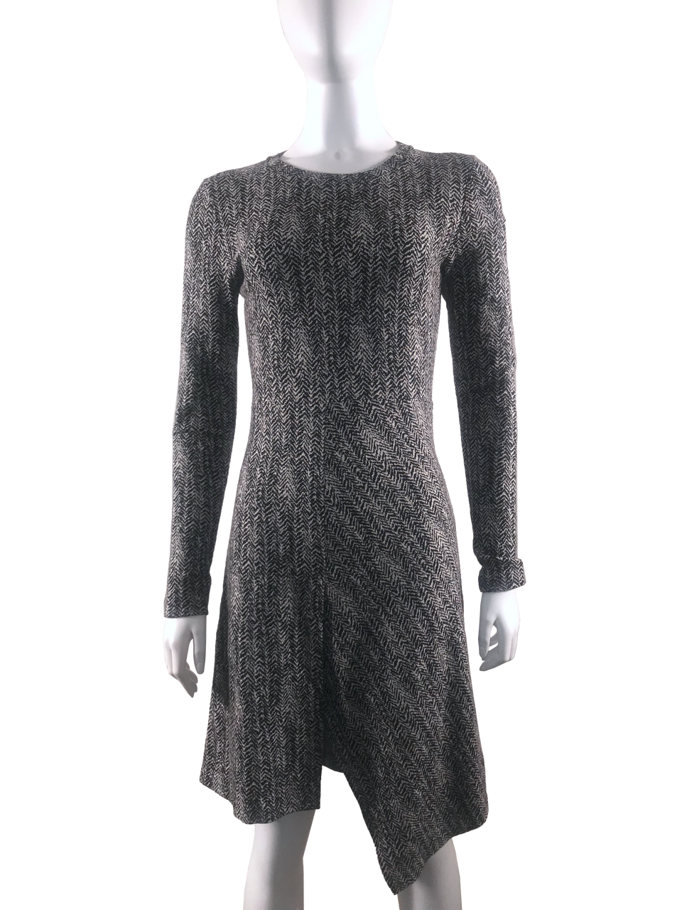 Tweed Knit Long Sleeve Dress