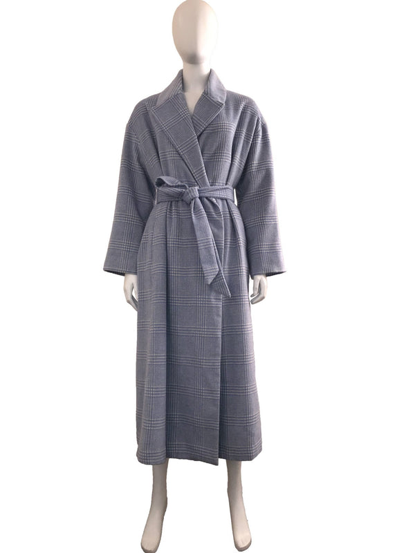 Chevron Patterned Robe Coat with Belt