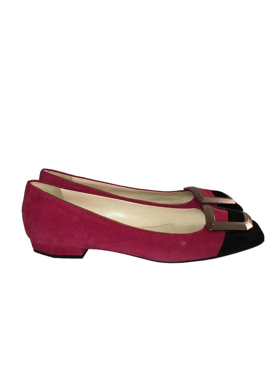 Color Block Square Toe Flats
