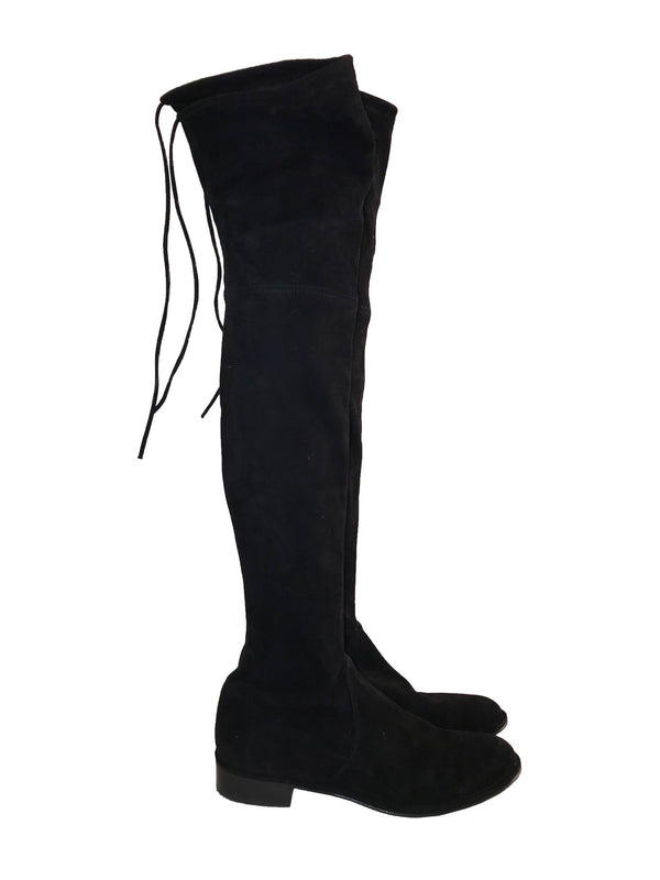 Black Suede Flat 'Lowland' Boots