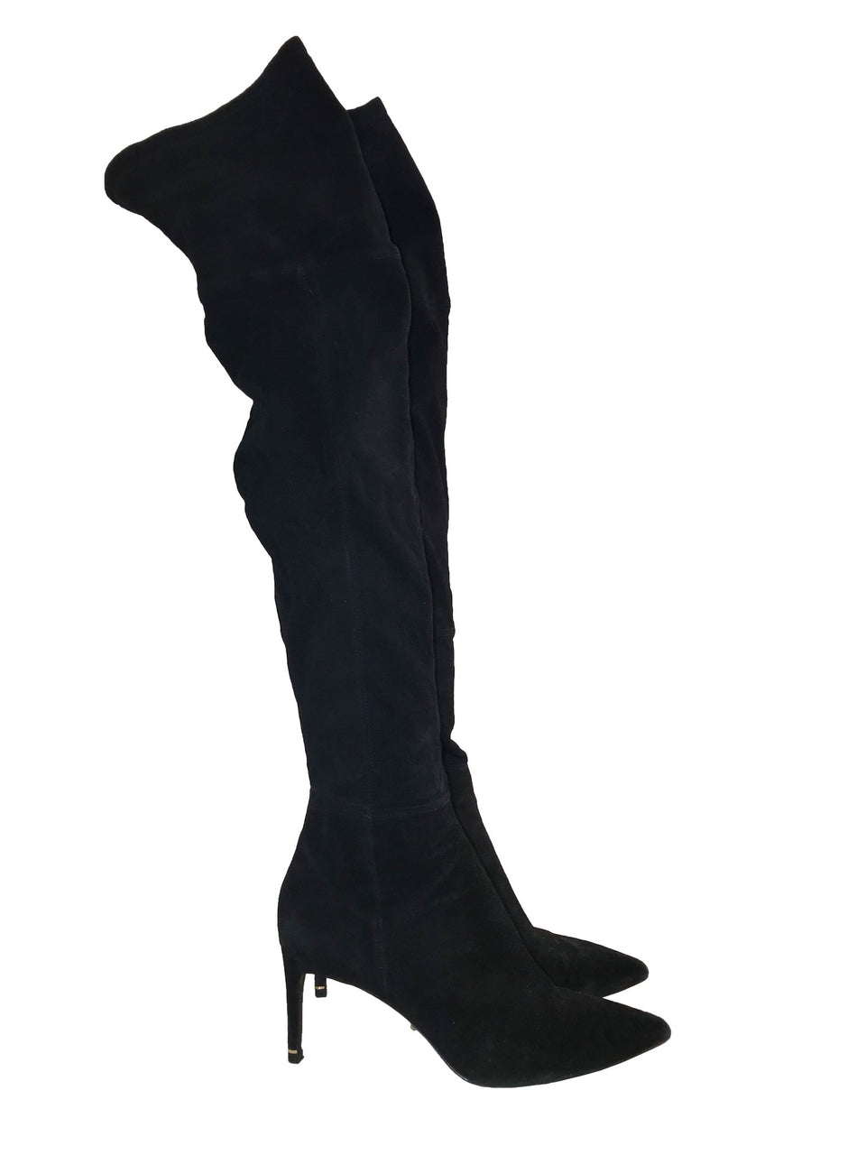 Over-the-Knee Black Suede Boots