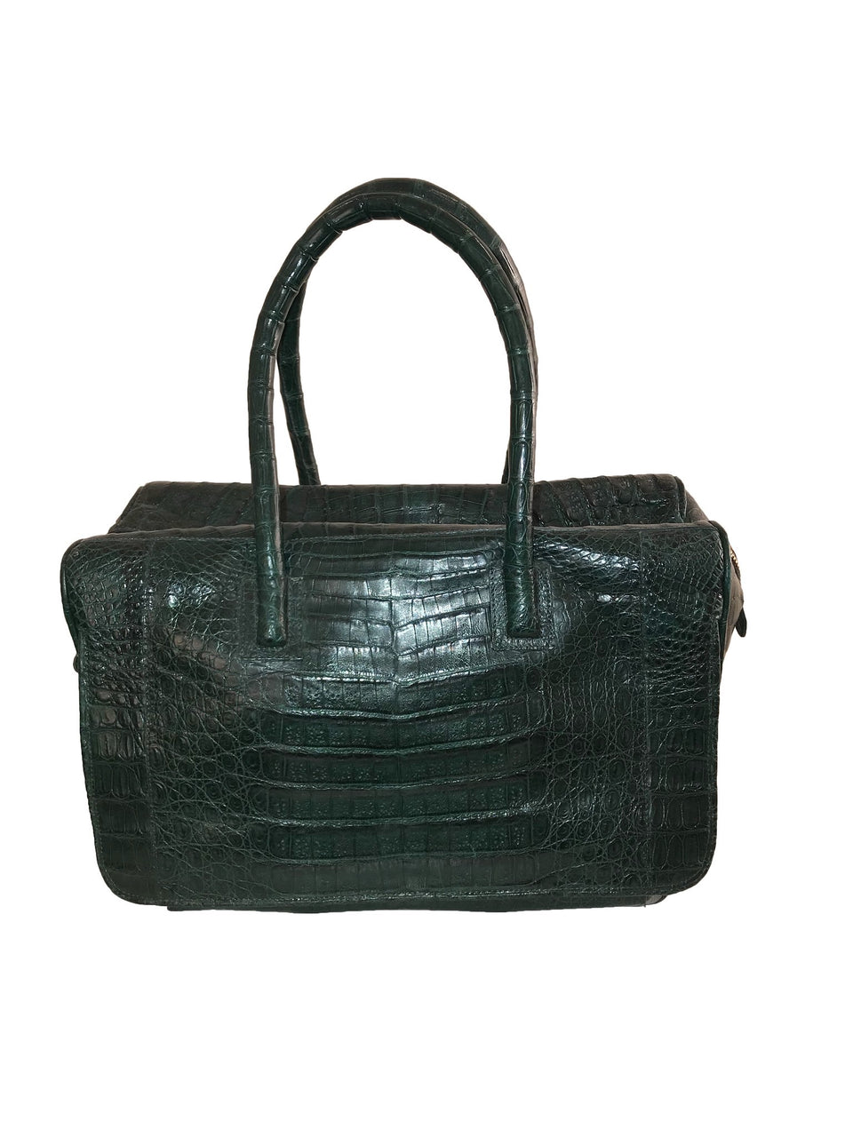 Green Croc Handle Bag