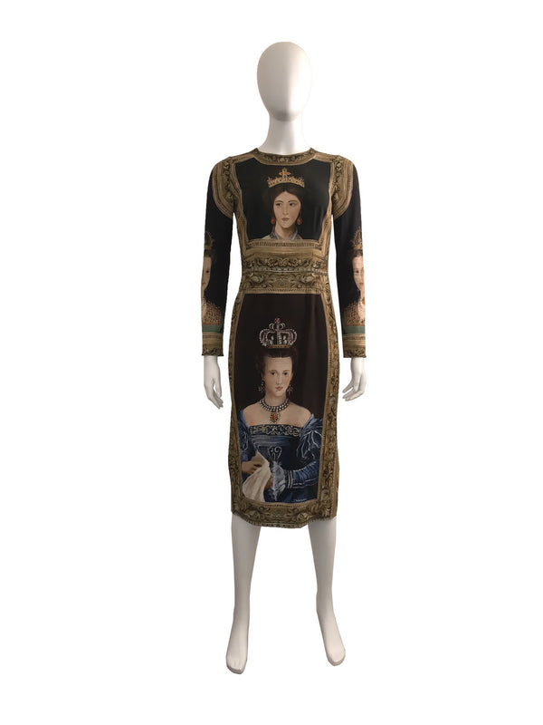 Queen Printed Dress