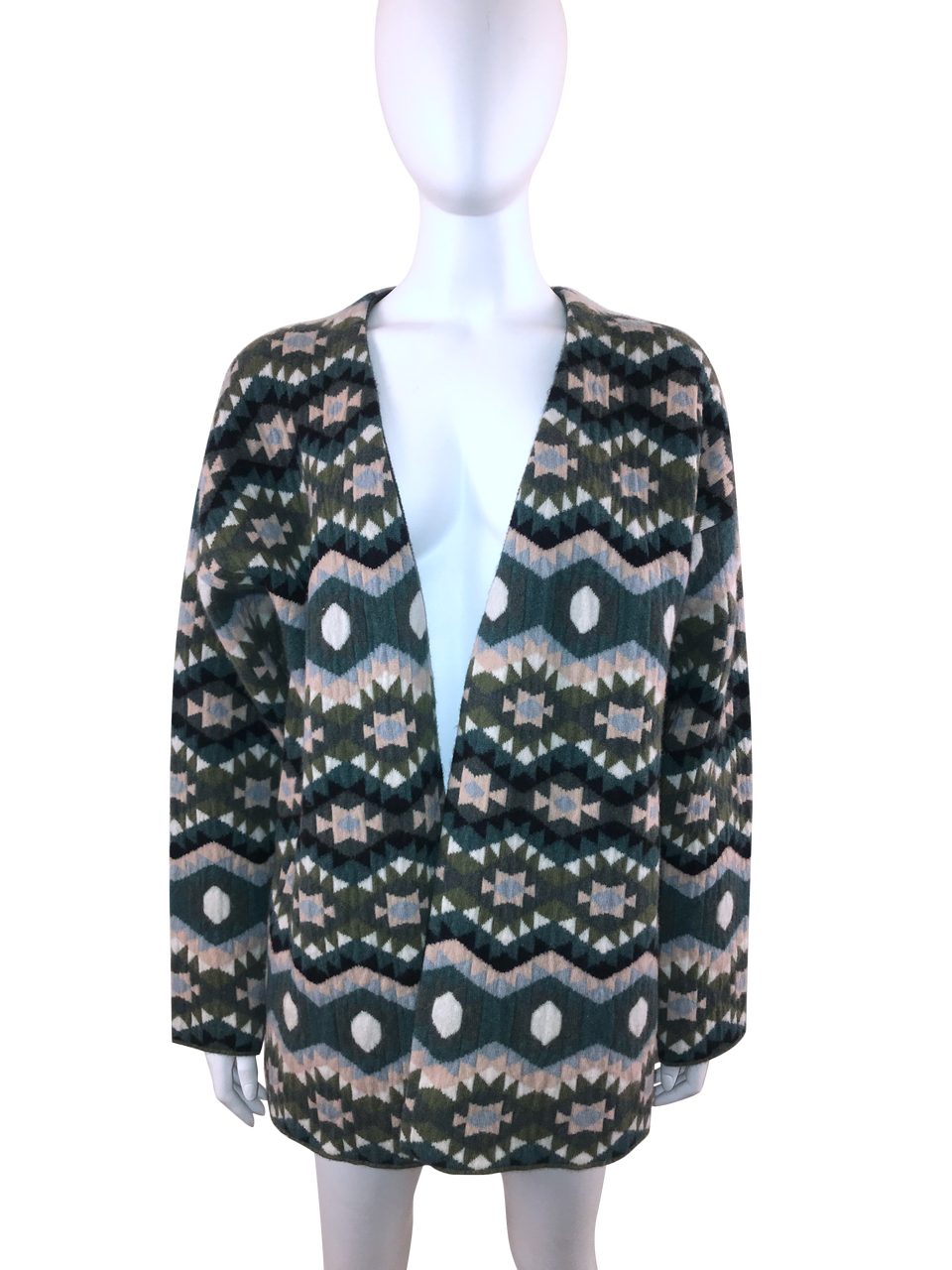 Cashmere Multi Printed Cardigan w/ Tags