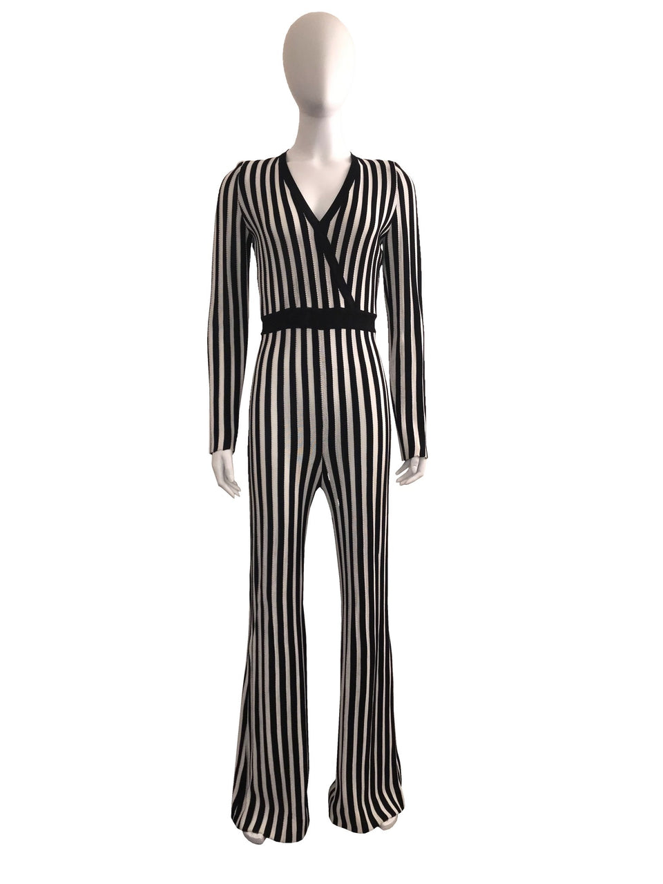 Striped Bell Bottom Jumpsuit