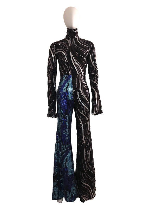 2-Tone Sequin Jumpsuit