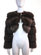 Cropped Fisher Fur Bolero Jacket