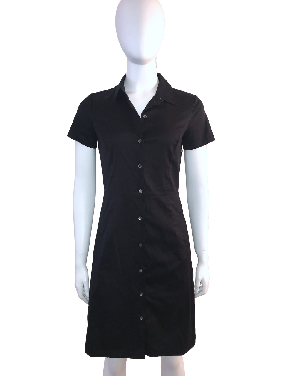 Theory Black Short Sleeve Shirt Dress