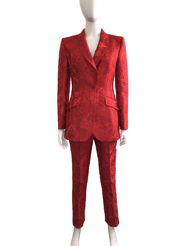 Red Cherub Jacquard Suit