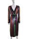 Sequin Multi-Colour Striped Wrap Dress/Coat w/ Tags